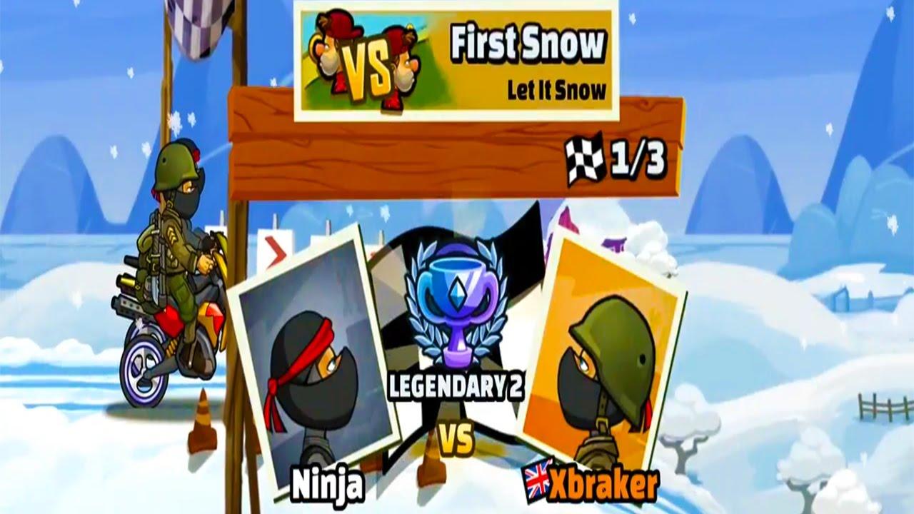 BOSS LEVEL -  Hill Climb Racing 2 - Ninja vs Soldier Outfit MOTOCROSS First Snow