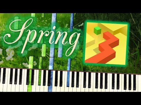 Dancing Line - The Spring Lullaby | Synthesia Piano Tutorial | Cover | Arrangement