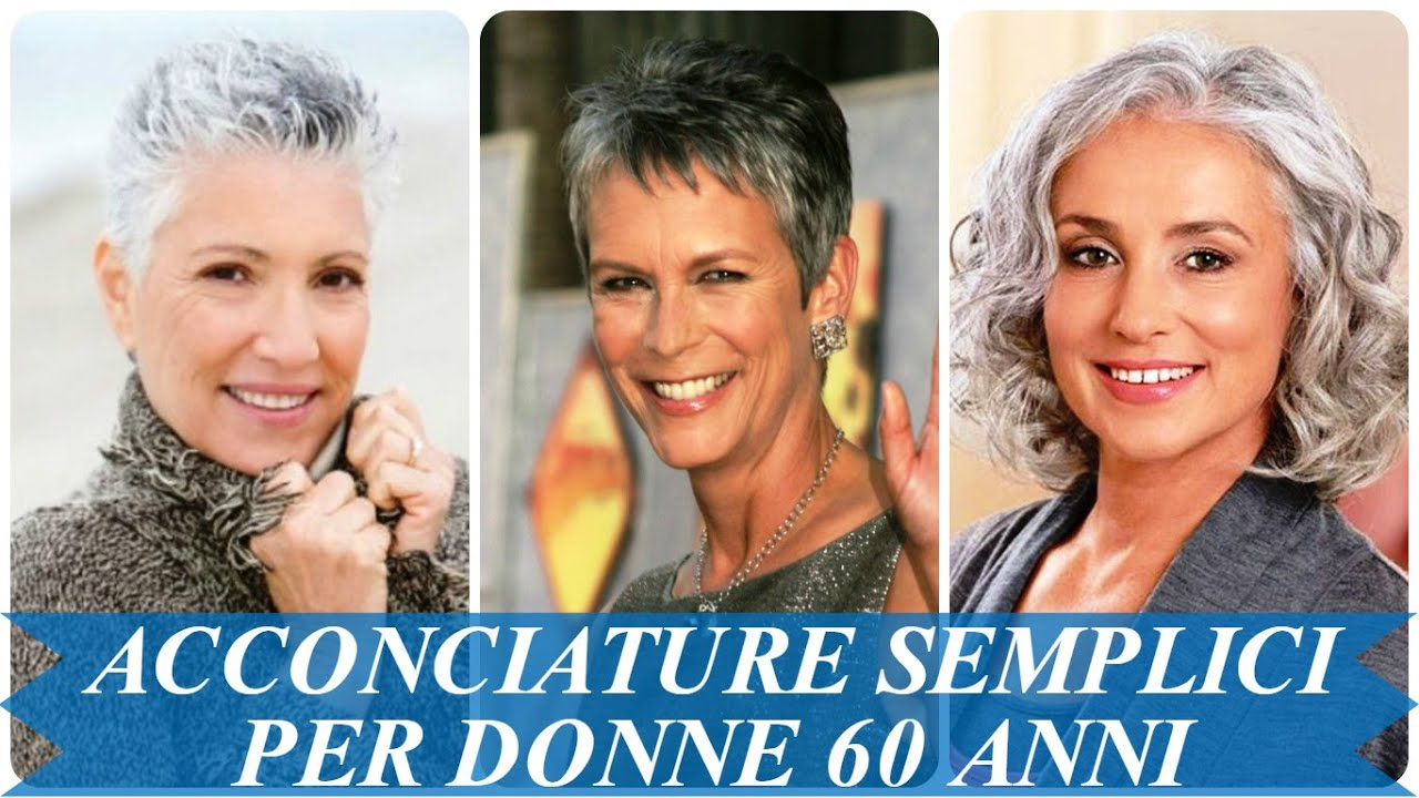 Amato Acconciature semplici per donne 60 anni - YouTube TF92