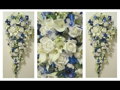how to make white roses into blue