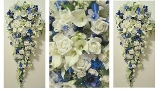 DIY Cascading Bridal Bouquet Idea