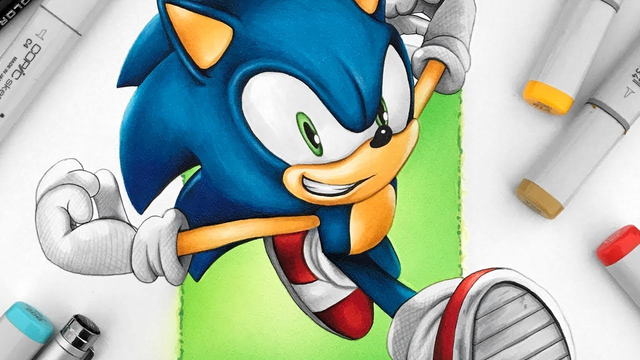 Drawing Sonic The Hedgehog Youtube