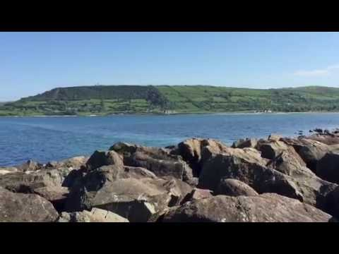 View Of Irish Sea From Carnlough Harbour Marina In Northern Ireland #irishsea #carnlough #harbour