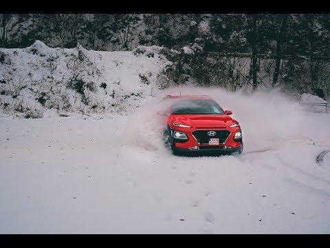 New Hyundai Kona 1.6 T GDi 4x4 preview fun in snow