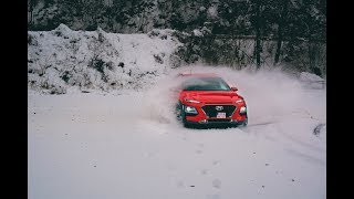 New Hyundai Kona 1.6 T-GDi 4x4 - preview & fun in snow