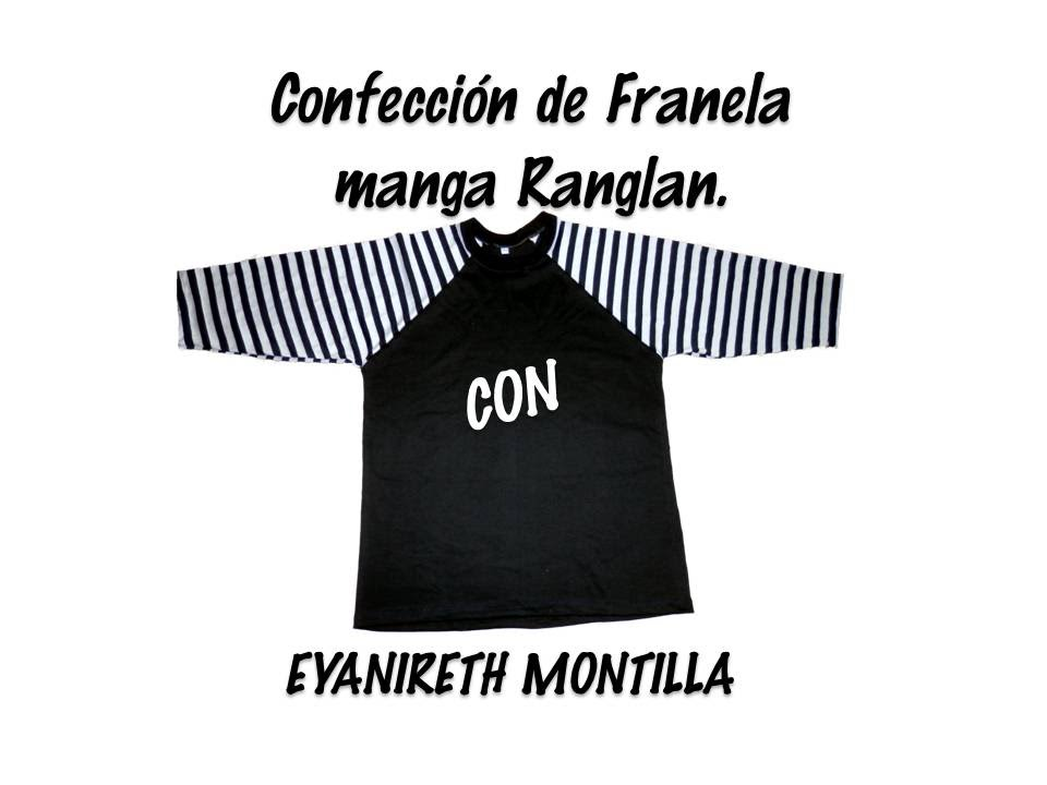 Confección de franela manga Ranglan - YouTube