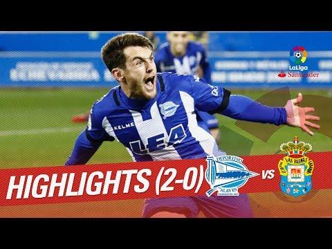 Resumen de Deportivo Alavés vs UD Las Palmas (2-0)