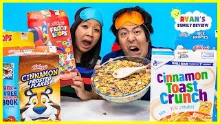 Cereal Challenge Guess the cereal game Mom vs Daddy!!!