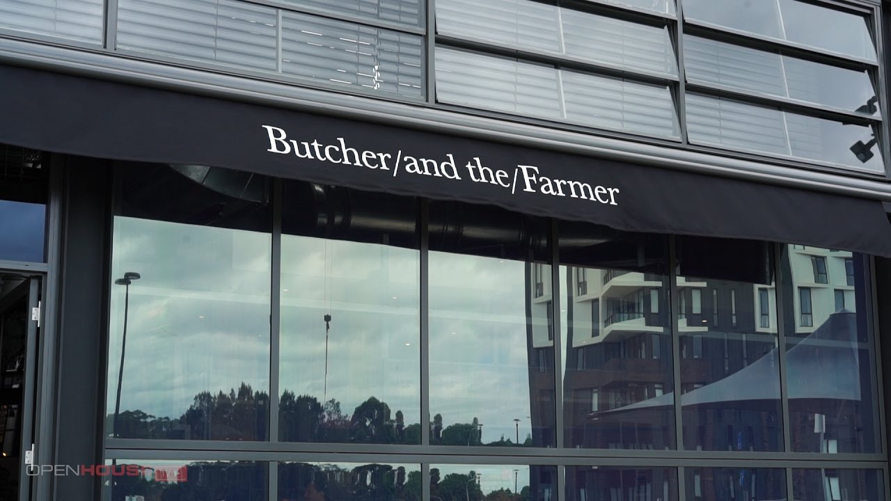 View from the kitchen - Butcher and the Farmer restaurant - YouTube
