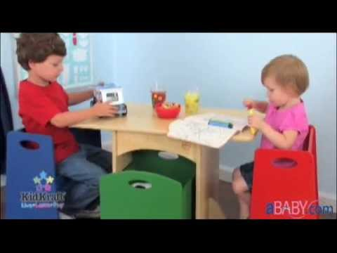 Kids Table And Bench Set    KidKraft Table With Primary Benches