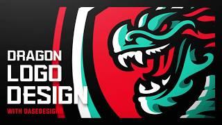 Chinese Dragon eSports Logo | Adobe Illustrator Sports Logo | DaseDesigns