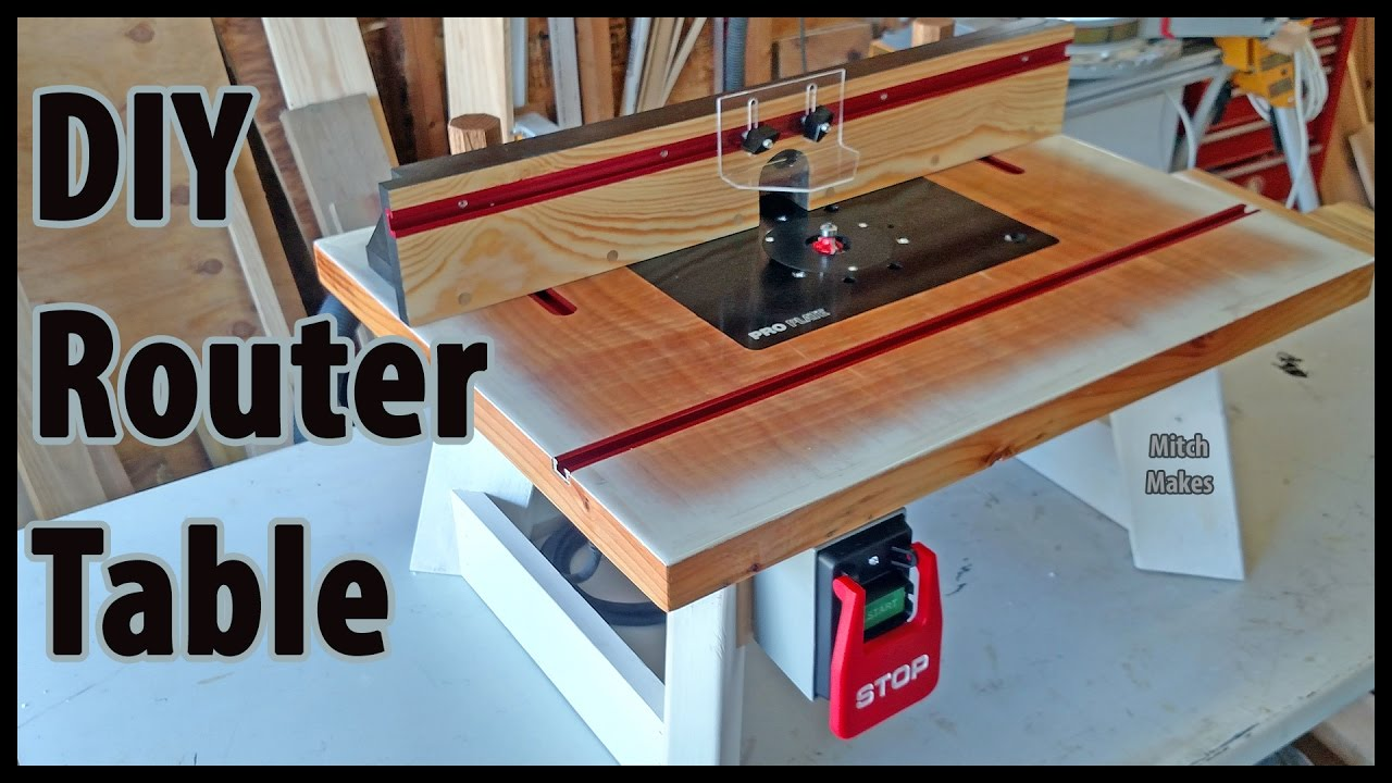 Build a benchtop router table diy youtube for How to make a router table stand