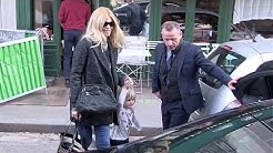 EXCLUSIVE - Claudia Schiffer and daughter Cosima Violet in Paris