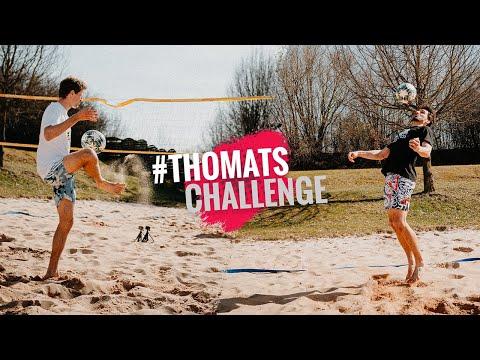 #ThoMats Challenge Footvolley– Thomas Müller und Mats Hummels im Sand!