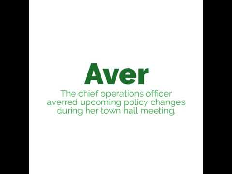 Impact word of the day - aver