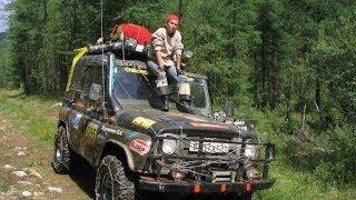 Суровая сибирская девушка за рулем УАЗ:) Восточные Саяны. Тофалария.