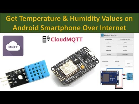 Get Temperature and Humidity Data on Android Phone | NodeMcu