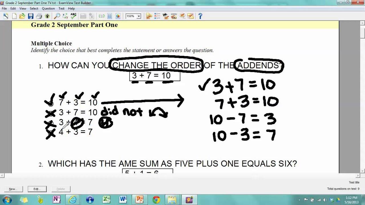 Worksheets Math Tests For Grade 2 navigator schools math grade 2 test sept oct youtube oct
