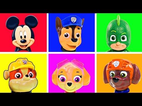 Mejores Videos Para Niños Aprendiendo Colores - Patrulla de Cachorros Cajas Disney Sorpresa
