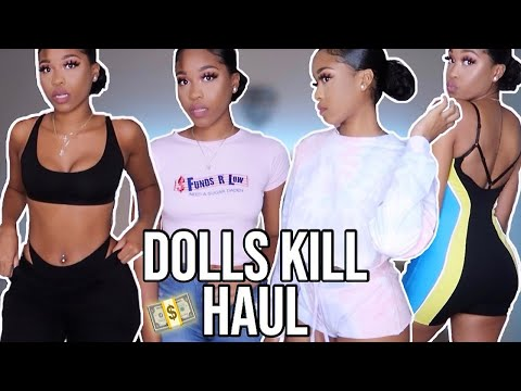 DOLLS KILL UNBOXING +TRY ON HAUL😍