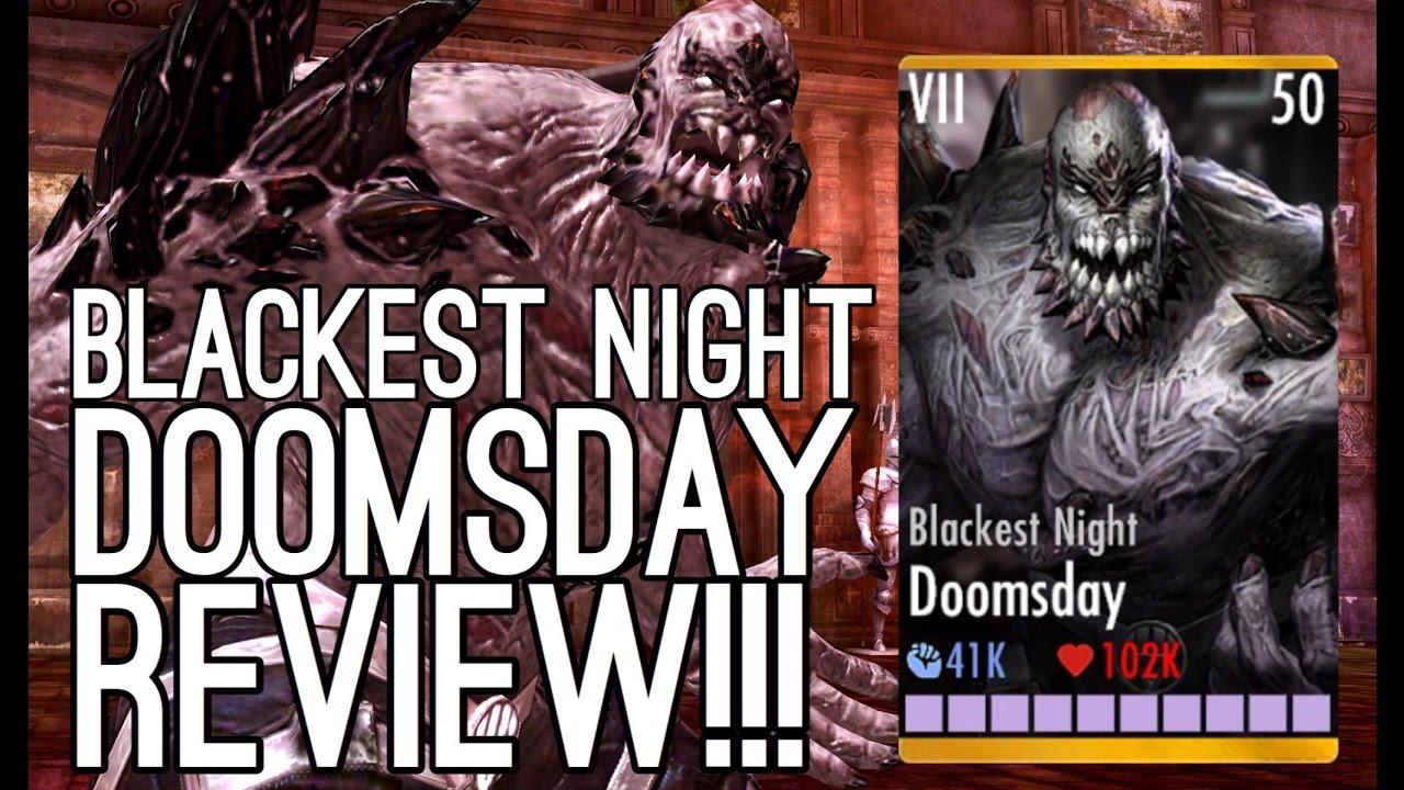 BLACKEST NIGHT DOOMSDAY REVIEW! Injustice: Gods Among Us