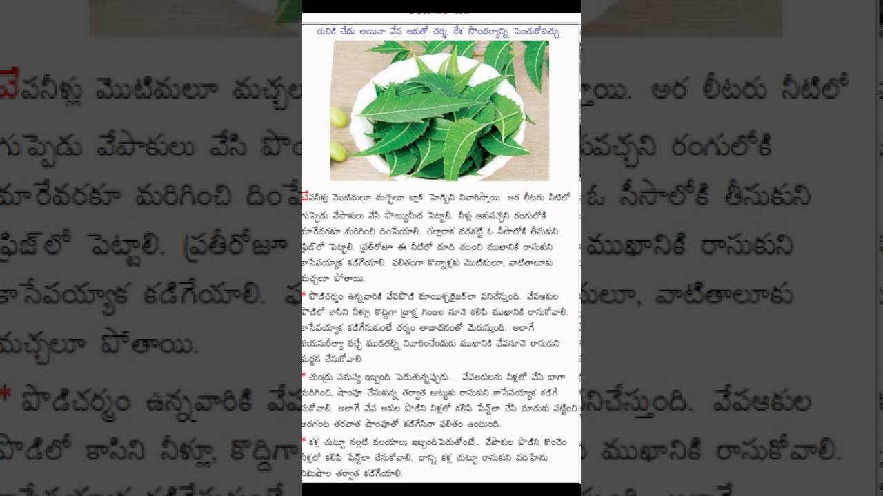 uses of neem in telugu uses of neem in telugu