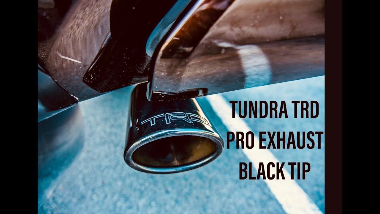 toyota tundra trd pro dual exhaust black tip review