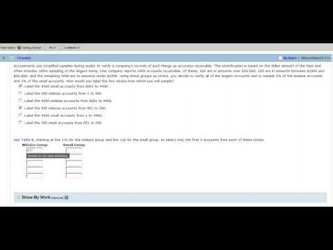 Random Number Table Example