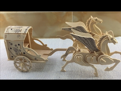 3D Wood Craft Construction Kit, How to make a wooden Flying Horse