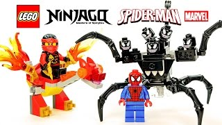 LEGO® Spider-Man vs Venom Symbiote 30448 & Ninjago Kai's Mini Dragon 30422 Speed Build