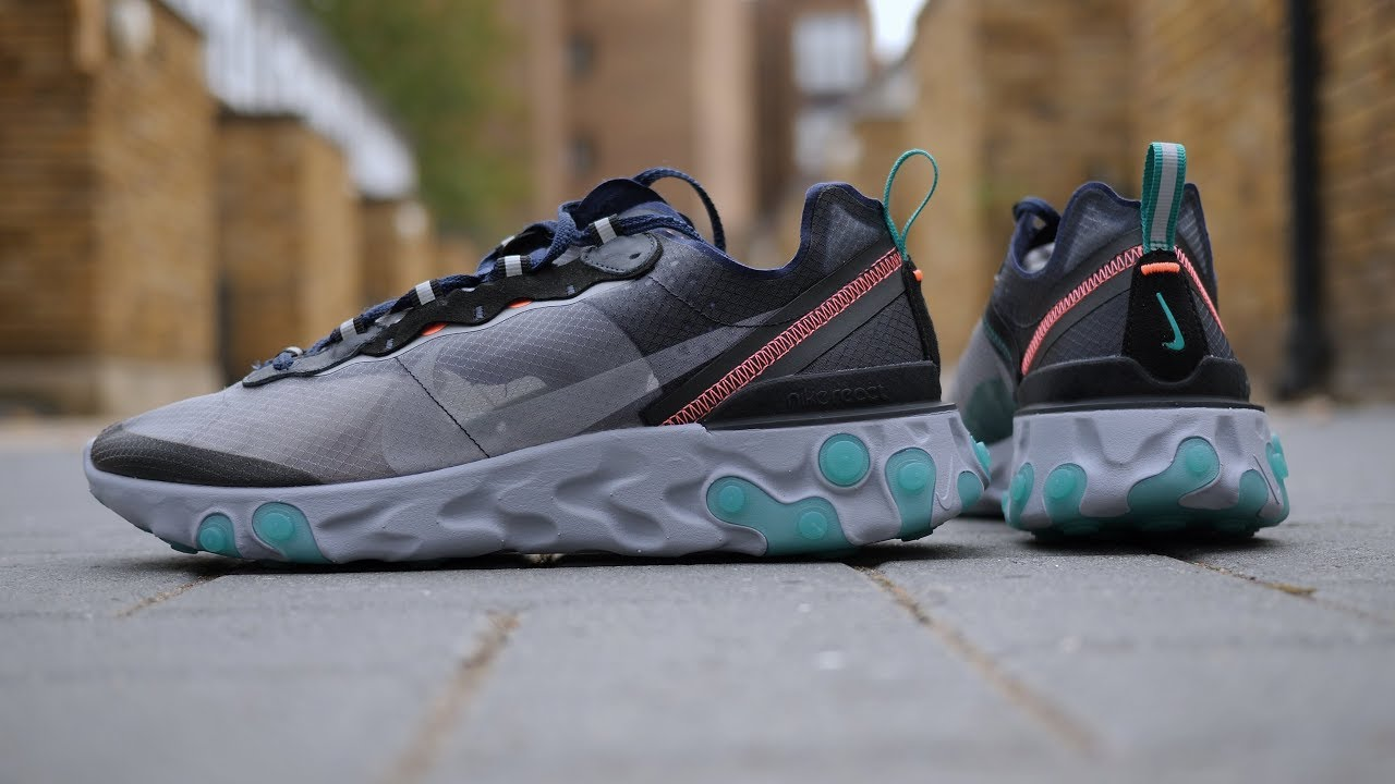 0acf4cfffe5d More Dope Colours! Nike React Element 87  Neptune Green  Quick Look ...