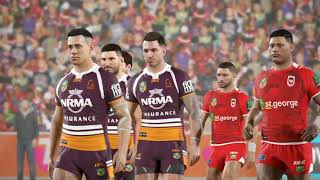 Brisbane Broncos Career S2 - Rugby League Live 4 (Round 20)