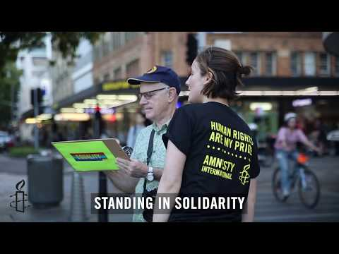 Thank you to Amnesty supporters in 2017