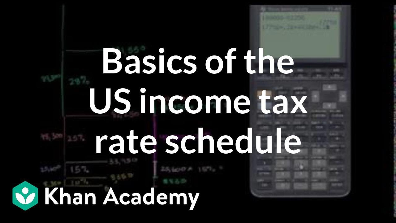 Basics of US income tax rate schedule | Taxes | Finance & Capital Markets | Khan Academy