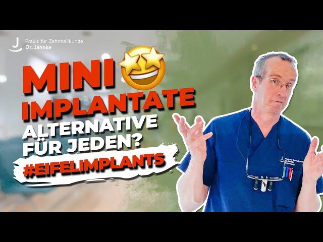 Alternative zu herkömmlichen Implantaten | Mini-Implantate -  für wen sind sie geeignet?