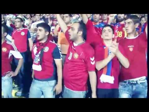 """Turkish fans copied from Armenian fans """"Zartir Lao"""" sing"""