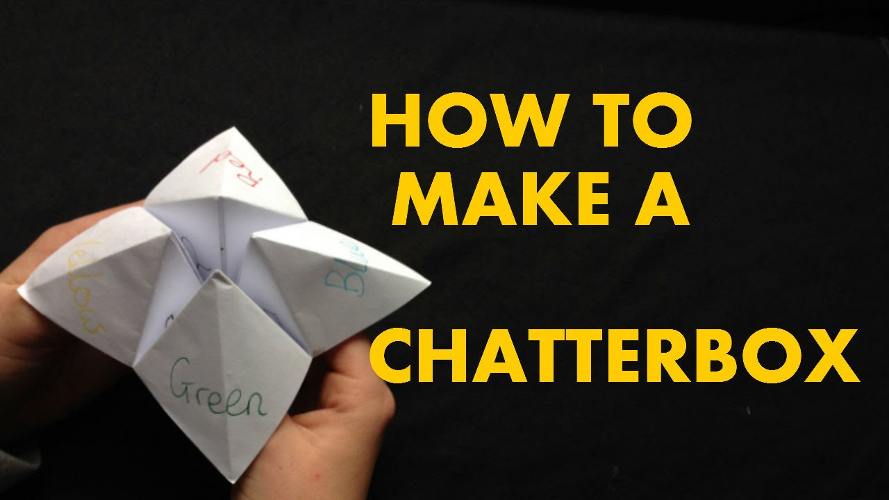 How to make a chatterbox fortune teller youtube jeuxipadfo Gallery