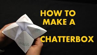 How To Make A Chatterbox / Fortune Teller