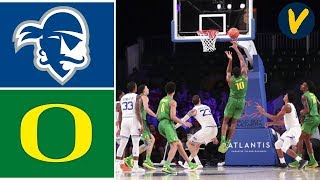 2019 College Basketball #11 Oregon vs #13 Seton Hall Highlights