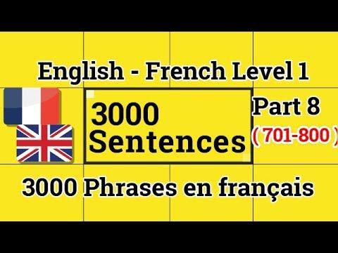 3000 Phrases en français  - English French Level 1 Part 8 (701-800)