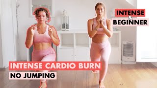 No Jumping Intense Cardio Burn - Level Up Beginner and Intermediate