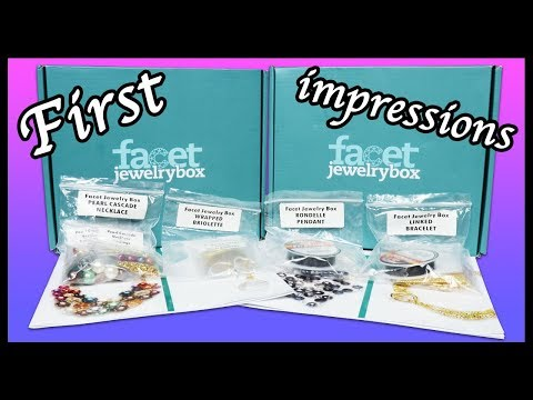 Facet jewelry subscription box ⎮ Opening and first impressions
