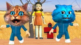 ПОСЛЕДНЯЯ ИГРА В КАЛЬМАРА в РОБЛОКС SQU D GAME ROBLOX Весёлый Кот и КОТЁНОК ЛАЙК