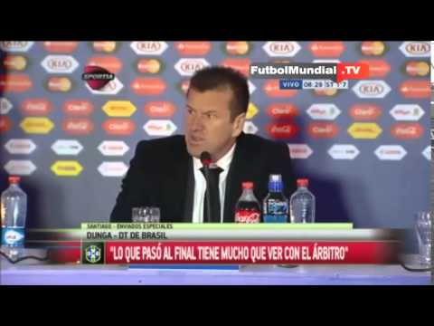 DUNGA  ABOUT BRASIL LOSS - Que dijo Dunga, tras perder ante Colombia Copa América Chile 2015