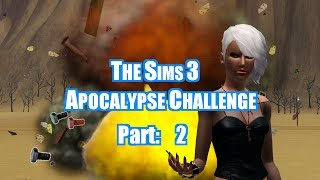 Let's Play: Sims 3 Apocalypse Challenge [part 2] How To Survive At University/military Training Camp