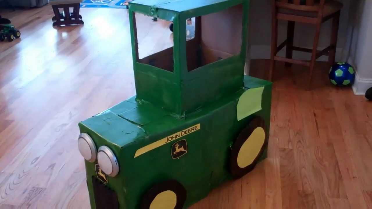 john deere tractor homemade costume - youtube
