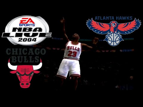 NBA Live 2004 PS2 Gameplay - Legendary Atlanta Hawks @ Legendary Chicago Bulls