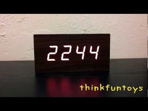Cherry Wood LED Desktop Clock