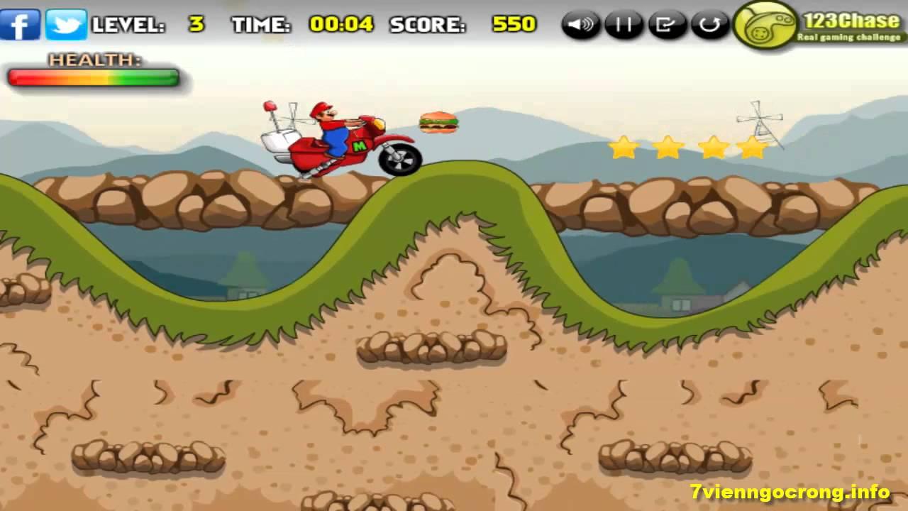 Game đua xe địa hình (Mario) – Game vui 24h