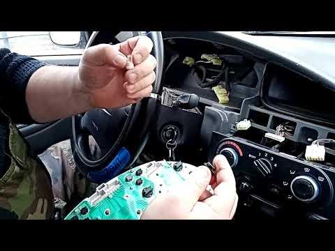 Chevrolet Lanos замена ламп подсветки доски приборов